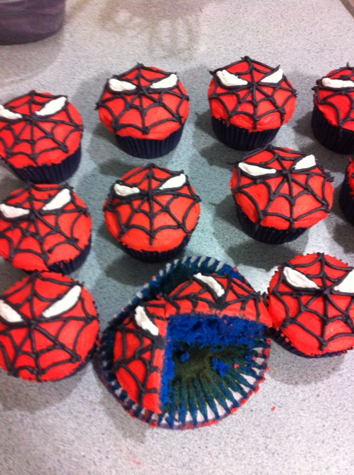 Spiderman Cupcakes                                                       …