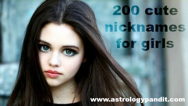 You can explore more than 200 best cute nicknames for girls! nicknames that any girl will find out very cute and funny when you assign them one . Visit http://www.astrologypandit.com/articles/200-cute-nicknames-girls/