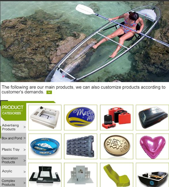 夏のウォータースポーツクリアプラスチックポンツーンボート