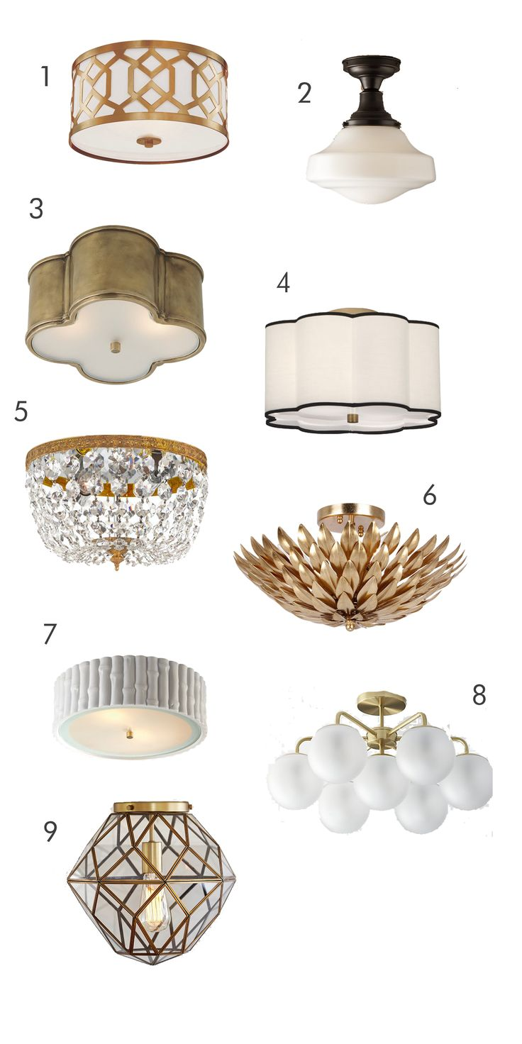 One Kings Lane 3 light ceiling mount  $315 RH parisian architecural milk glass brasserie flush mount $179 – 279 depending on...