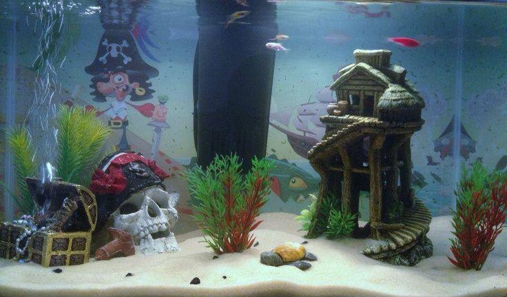déco aquarium pirate
