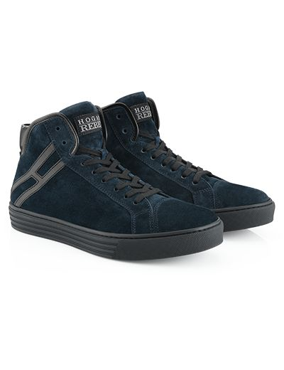 #HOGANREBEL R206 High-top #sneaker in #suede with visible stitching.  For a modern #urban #style  explore more here hoganrebel.com/men