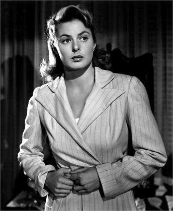 "Ingrid Bergman in ""Spellbound"", 1945."