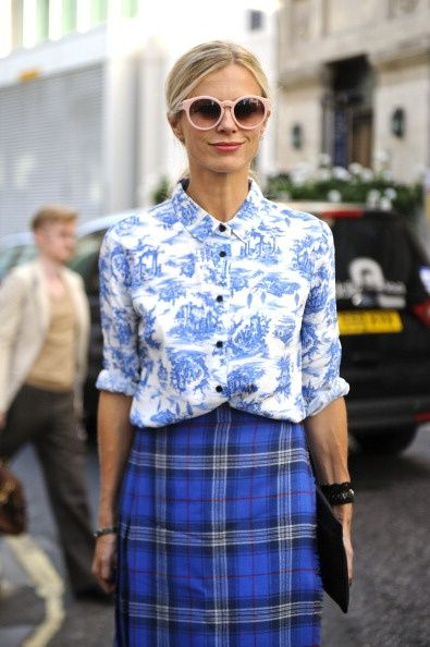 Laura Bailey LFW in toile