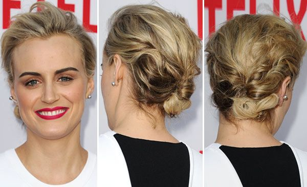 Taylor Schilling's Textured Updo At Netflix Panel -- Get The Exact How-To