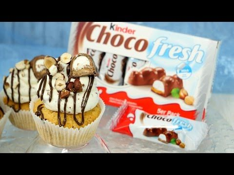 Kinder Choco Fresh Cupcakes mit Füllung - YouTube