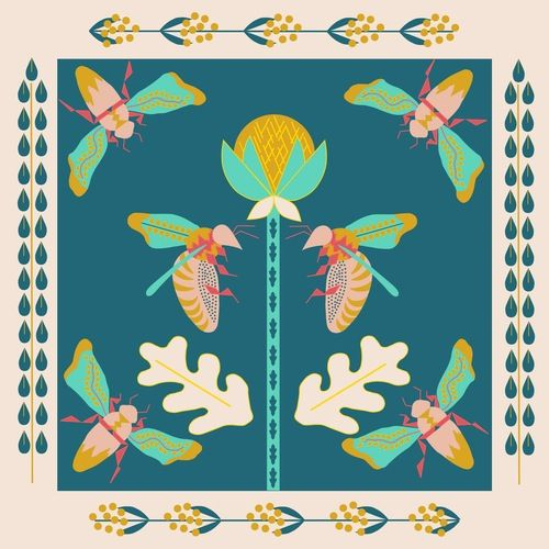 Image of Secret Garden Silk Scarf