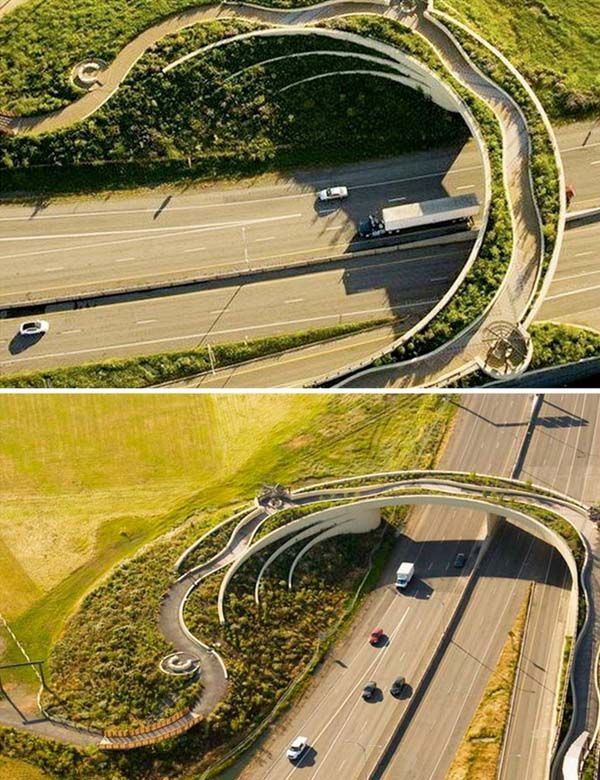 Structures that Blur the Lines between Architecture and Sculpture - Modernica Blog -- Vancouver Land Bridge by Maya Lin, 2008. Photo courtesy of the Confluence Project.
