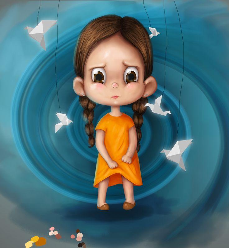 Ознакомьтесь с моим проектом @Behance: «no name» https://www.behance.net/gallery/51400553/no-name #sad #angry #dangerous #little #girl #kids #illustration