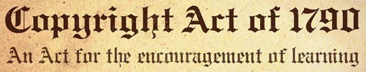Primera #ley sobre los #derechos #de #autor promulgada en #EEUU en #1790. #copyright #derechosdeautor