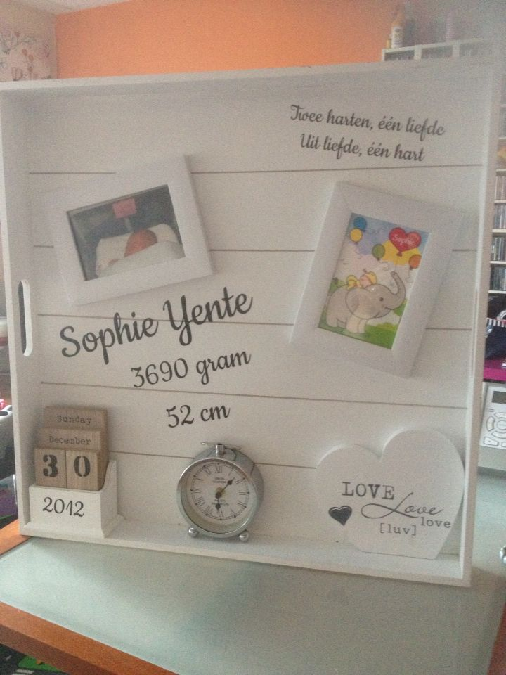 Geboortebord Sophie
