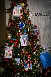Make a Fortune Tree with your Christmas tree.  This is a fun idea I found online, and by far, one of our favorites!   I take a trip to the dollar store and find some funny things to fit into a small bag that will hang on the tree.  I make up a little New Year fortune to go with the items in the bag.  Let everyone choose a bag and then read their fortunes.  I got things like bubble gum, umbrellas,