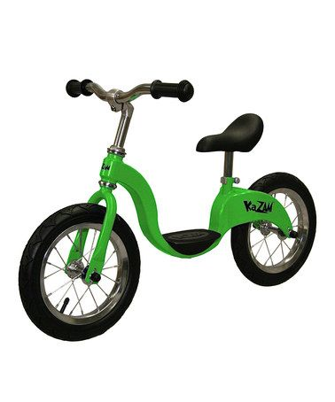 As seen on Shark Tank! The Kazam. Regularly $100, but not on zulily - 64.99! Green Balance Bicycle on #zulily! #zulilyfinds