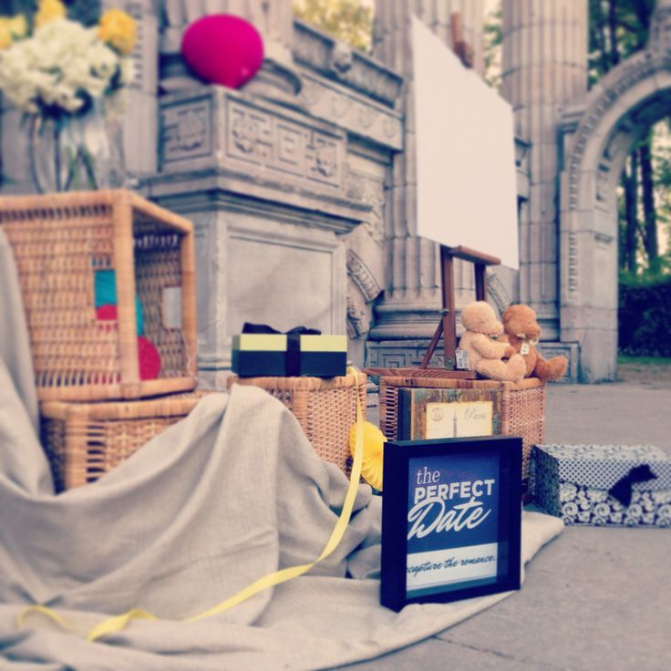 Part of the romantic set up for the secret proposal we planned in Guildwood Park, Toronto!