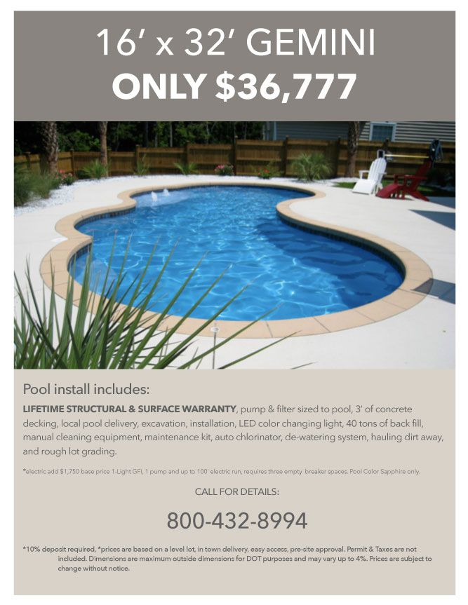 Aquamarine Pools Fiberglass Pools & Spas - Swimming Pool Specials ...