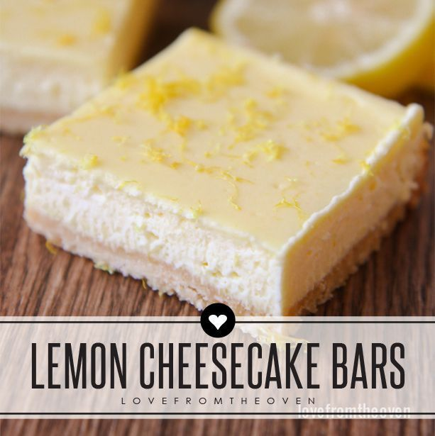 Lemon Cheesecake Bars | Other, Cheesecake and Cheesecake bars