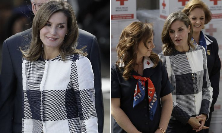 Letizia, 45, studied for a masters at the University of Guadalajara in the mid 90s, and has returned to Mexico for the World Cancer Leaders Summit and a visit to the Red Cross headquarters.