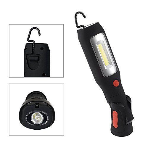 Este profesional de la inspección de trabajo de la lámpara LED de la mano de la antorcha es un ayudante necesaria cuando se trabaja en la noche o tienen que comprobar los detalles en la oscuridad. Con su luz 3W COB en el cuerpo, puede proporcionar brillo estupendo. Y adicional 1W... http://comprarlinternaled.com/deportivas/caza/led-del-trabajo-prozor-3w-cob-recargable-portatil-garaje-funcionan-las-luces-led-de-la-linterna-llevo-la-lampara-de-inspeccion-con-modo-