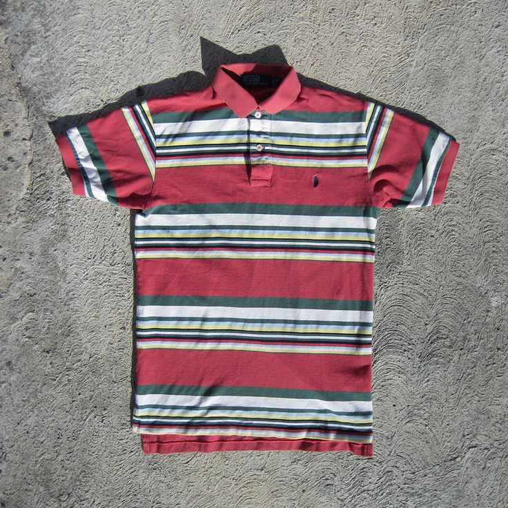 Polo Ralph Lauren - M Medium - Short Sleeve Striped Polo Shirt Bear Rugby   Clothing, Shoes & Accessories, Men's Clothing, Casual Shirts   eBay!