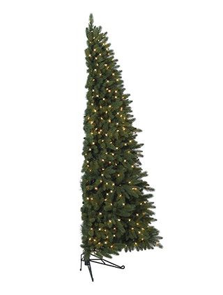 best idea: half a tree.  Fifth Avenue Flatback Artificial Christmas Tree, Half Christmas Tree - Balsam Hill