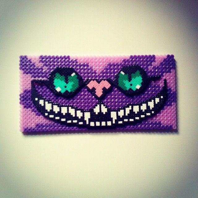 Cheshire Cat Alice hama beads by mahama_beads