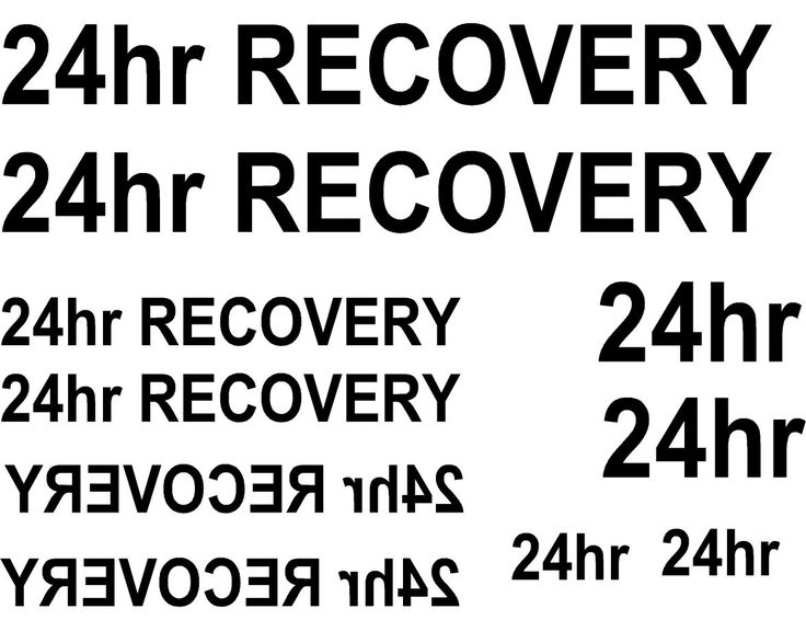 16 X 24hr recovery WATERSLIDE DECAL choice of colours IDEAL FOR CODE 3 MODELS   eBay