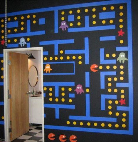 17 best images about pac man bedroom on pinterest the for Bedroom designs games