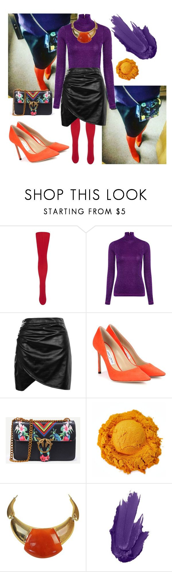 """Untitled #2139"" by jo-fashion-stylist ❤ liked on Polyvore featuring Le Bourget, Karen Walker, Boohoo, Jimmy Choo, WithChic and Lanvin"
