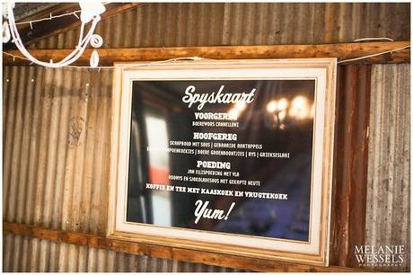 Menu in a frame - Canvas Stationery Boutique
