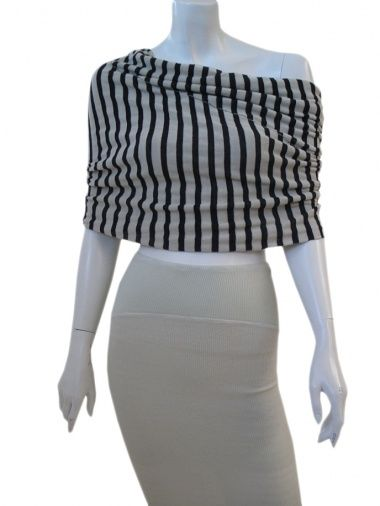 Designer: Sinha Stanic Stretch    Item: Neck-warmer    Composition: 100% Cotton    Made in Italy    Description:    Neckwarmer in striped cotton eco-friendly           > Need Help?    Price $ 205.00 $63.00    Discount: -69%
