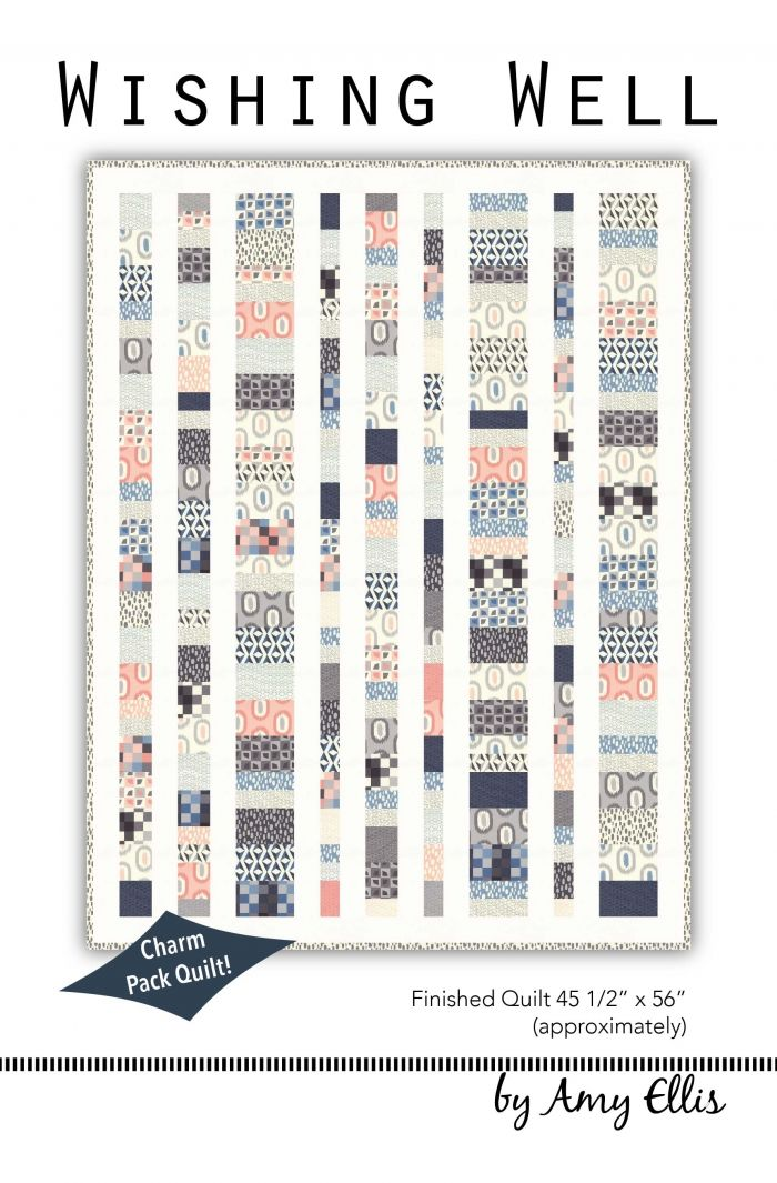 Wishing Well - Charm Pack Baby Quilt Pattern by Amy Ellis #showmethemoda - AmysCreativeSide.com