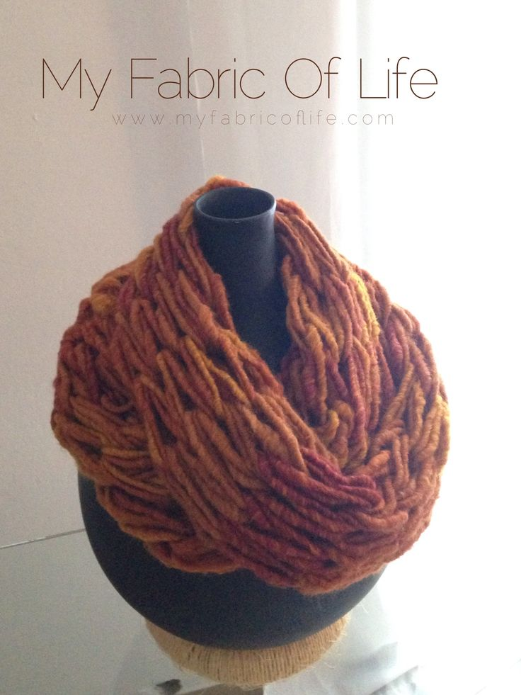 "MY FABRIC OF LIFE| ""Andromeda"" handmade cowl.  #myfabricoflife #handmade #fashion #knitting #armknitting #greekischic"