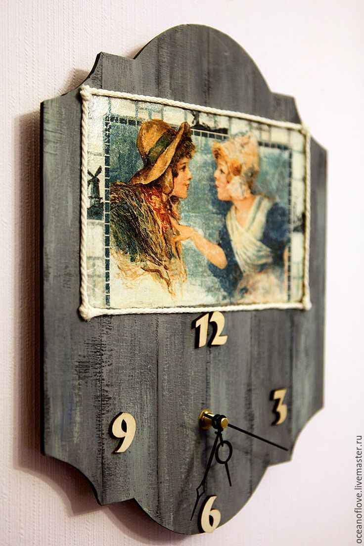 Купить Часы настенные ГОЛЛАНДСКИЕ КАРТИНКИ,ДЕВЧОНКИ С ПОБЕРЕЖЬЯ. - часы настенные, часы для дома