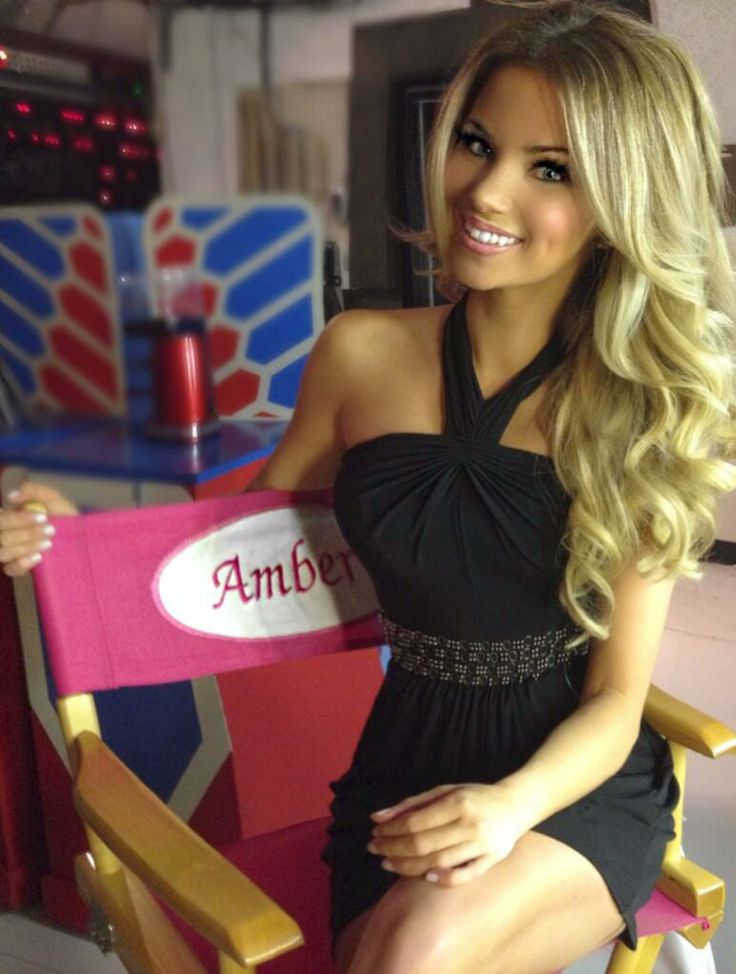 The stunningly beautiful Amber Lancaster is back at work.  12/2/2013