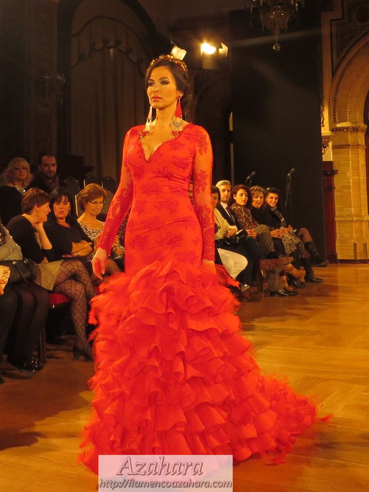 #Vestido de #Flamenca con mangas largas de #Ángela #Campos. #weloveflamenco #2015