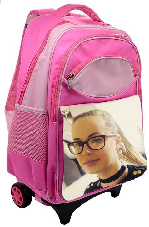 PERSONALISED KIDS TRAVEL BAG PINK WITH YOUR PHOTO OR ANY IMAGE #Unbranded