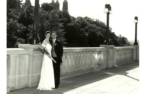 Dr. Shannon Fraser and Carlo Galli celebrated their wedding at the Chateau June 21, 2003.