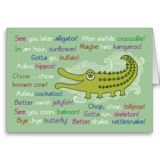 Goodbye and Good luck from Group, Alligator