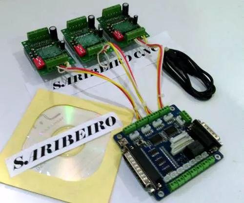 Controladora Cnc Tb6560 3 Eixos Driver Motor Passo+interface - R$ 264,90