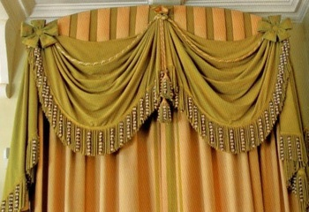 John Fowler drapery detail of the Stone Hall Curtains at Cornbury Park. Nobody understood drapery like John Fowler.