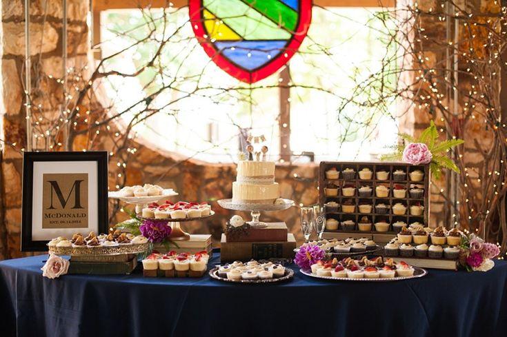 vintage wedding dessert table display image by a j dunlap photography. Black Bedroom Furniture Sets. Home Design Ideas