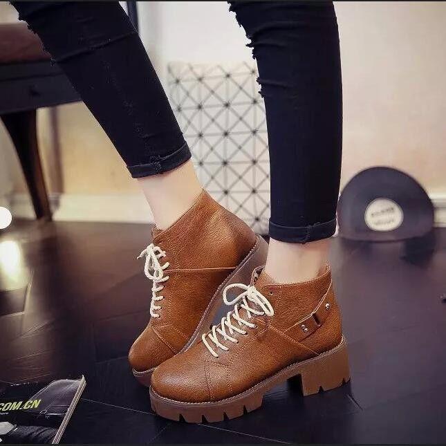 Fashion Winter High Platform Zipper Ankle Boots