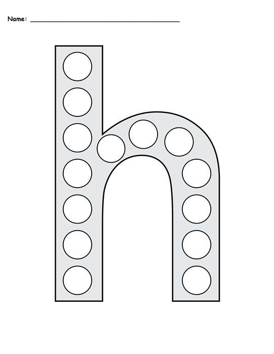 FREE Letter H Do-A-Dot Printables - Uppercase & Lowercase | sight ...