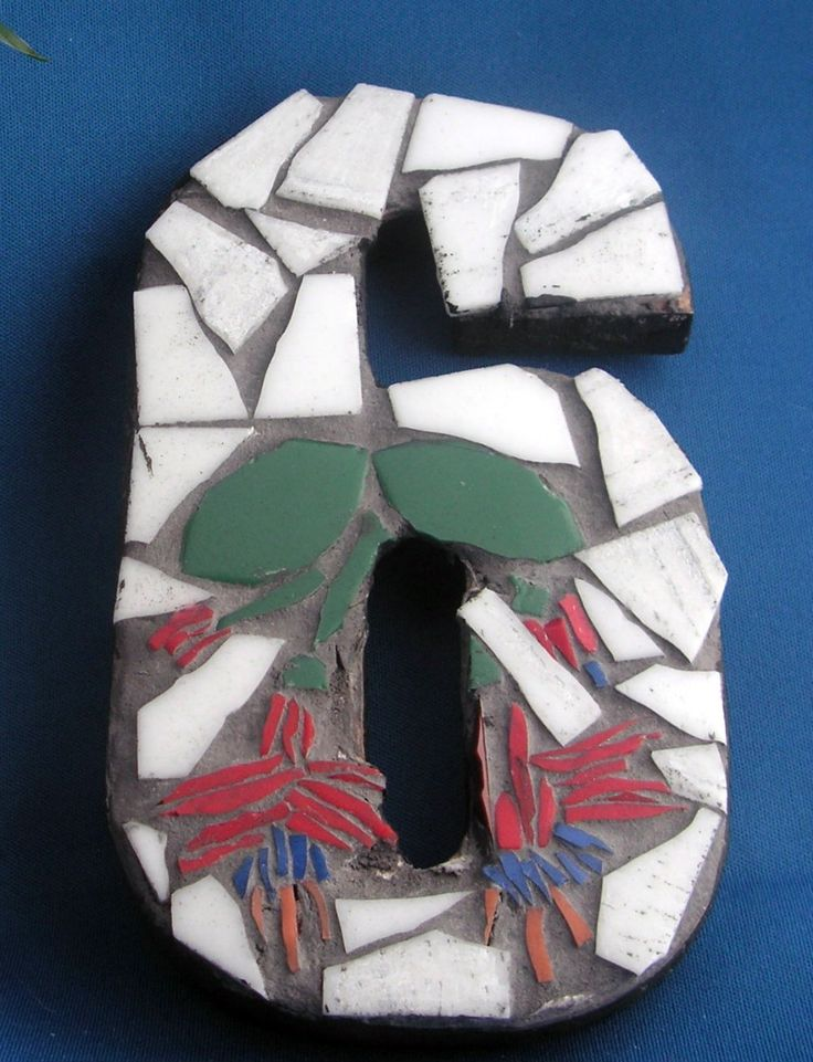 "Custom and Unique Mosaic Numbers for your Home. MADE TO ORDER - WE WILL CONTACT YOU WITHIN 24 HOURS TO CONFIRM YOUR CHOICES AND ANSWER ANY QUESTIONS YOU MAY HAVE. PLEASE NOTE THAT WE ARE LOCATED IN THE UK SO PLEASE TAKE INTO ACCOUNT TIME DIFFERENTIAL. ------------------------------------------------------------------------ FIRST NUMBER 36.00 - RECEIVE A 20% DISCOUNT FOR THE REST. Can be set into your brickwork or mounted with supplied ""D ring"". Approximately 18cm (7"") tall. Available in…"