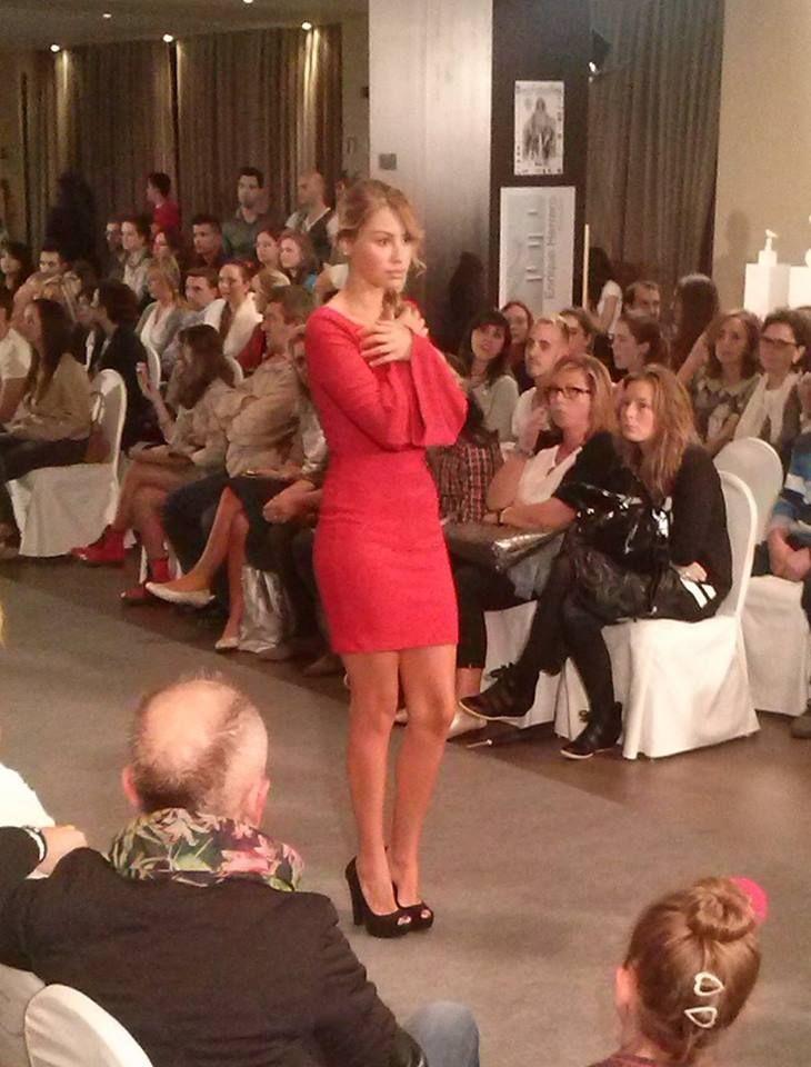 Otro precioso vestido Barbarella, en la Oviedo Fashion Week.