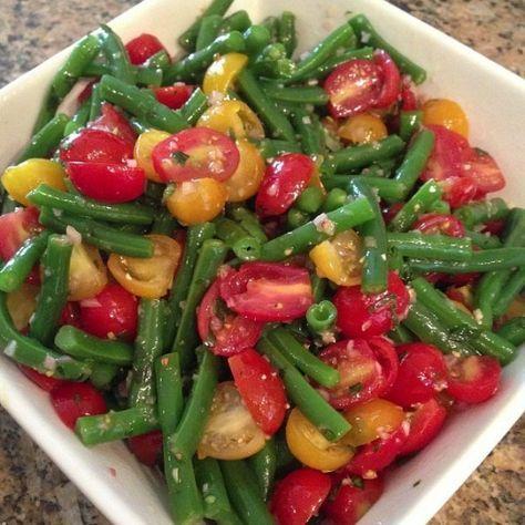 Fagiolini e pomodori ad insalata