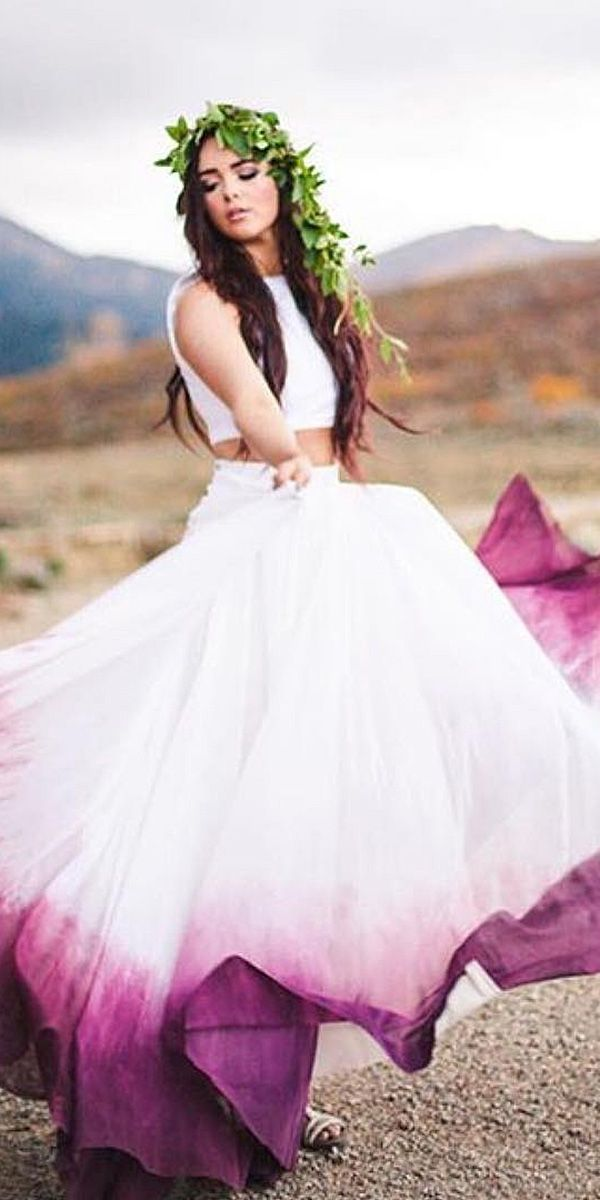 Fun wedding dresses with color