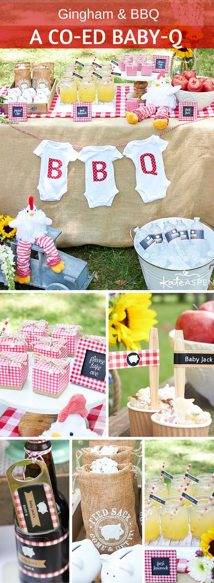 A Baby-Q is an adorable gender-neutral baby shower theme, and it's family friendly, too. From favor boxes to customized bottle openers, here's everything you need to throw a relaxed barbecue-themed baby shower honoring the mommy and daddy-to-be!