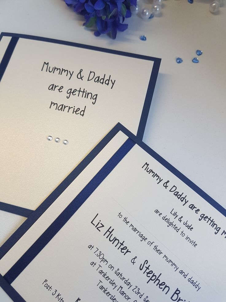 Mummy Daddy Are Getting Married Wedding Invitations And Ideas UK Stationery