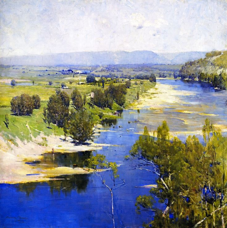 The purple moon's transparent might  Sir Arthur Streeton